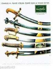 PUBLICITE ADVERTISING 056  1997  le Champagne Canard- Duchene Charles VII  Reims