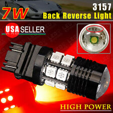 1x Red 3157/3156 5050 Chip Projector High Power 7W Tail Brake Stop LED Light