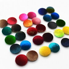 Velvet fabric Buttons 28mm. Garment accessories Toys School Party Craft Gift