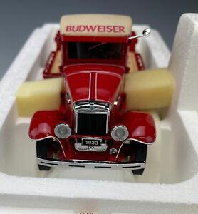 Danbury Mint 1933 Budweiser Delivery Truck 1:24 w/ Original Box & Title Mint