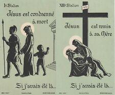 IMAGE  PIEUSE S HOLY CARD SANTINI  BENEDICTINES DE BAYEUX