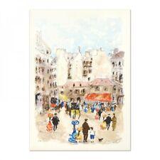 Urbain Huchet VILLA SUR L/'AREN Hand Signed Limited Edition Lithograph Art