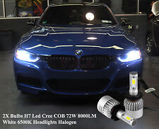 2x Bulbs H7 LED Canbus Headlights Low Beam 72W 6500K White BMW 3 Series F30 F31