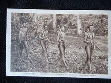 Carte postale Cochinchine Bienhoa Délégation de Chua-Chan Guerriers Cho-Ma