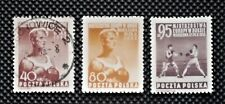POLAND- 1953 - European Boxing Championships - Set of 3 - MH & Used