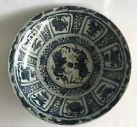 A Large Ming dynasty Wanli Swatow charger Double Dragon motif 38cm diameter