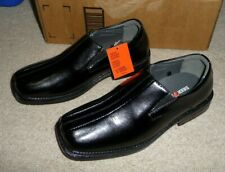 Deer Stags Boys Dress Shoes Wings Motivation Black Slip-on Loafers Size 3.5 New
