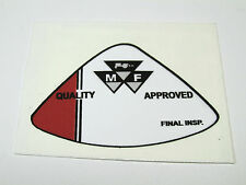 MASSEY FERGUSON TRACTOR QUALITY APPROVED FINAL INSPECTION DECAL