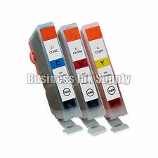 3 CLI-8 COLOR New Ink Cartridge CLI-8C CLI-8M CLI-8Y CANON Pixma MP830 Printer