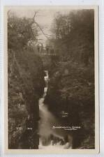 (w14l10-351) Real Photo of Baxenghyll Gorge, INGLETON c1920 Unused VG-EX