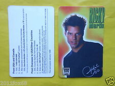 cartes telephone 1998 phone cards 100 units ricky martin rare telefonkarten gq