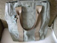 EXCELLENT GENUINE RADLEY BAG GREEN SOFT ITALIAN LEATHER WITH DOG TAG LARGE