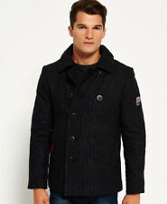 Superdry Rookie Peacoat chaquetas S-charcoal Herringbone