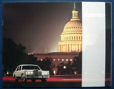Prospekt brochure 1988 Lincoln Town Car Portfolio  (USA)