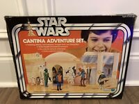 STAR WARS CANTINA ADVENTURE BOX ONLY KENNER VINTAGE 1978 BLUE SNAGGLETOOTH MOS