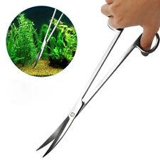 New listing 3pcs Aquarium Water Plants Tool Set Steel Scissors Tweezers Gravel Fish Tank Fa1