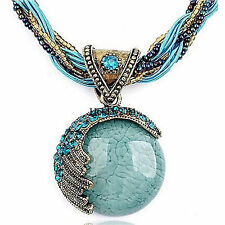 COOL Women Round Reiki Ball Crystal Lucky Divination Stone Pendant Necklace