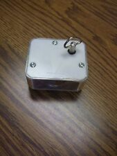 "Sankyo Acrylic Music Box Plays ""Rock a Bye Baby""/Great for Crafts/2.5"" x 2"" x 1"""