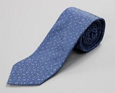 "Louis Vuitton Pale Blue White Circle Dot Monogram Tie 100% Silk Hand Made 3 1/8"""