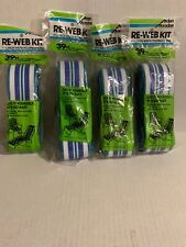 New listing Vintage Re-Web Kits (4){ 2 3/16} 39 Feet Each Blue and White & Green Striped