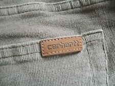 Carhartt Womens 12x30 (Actual 33x29) Pale Brownish Stretch Microcords 100025915