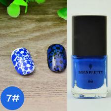 Born Pretty 6ml Blue Nail Art  Stamping Stamp Plate Polish Varnish DIY