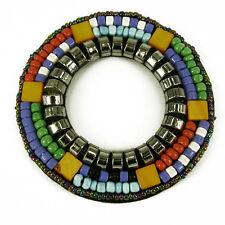 Patch Sewing bag circle Decoration Inca Kuchi Afghan Banjara Tribal beads AF97