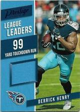 2019 PANINI PRESTIGE LEAGUE LEADERS MATERIALS BLUE #LL-DH DERRICK HENRY
