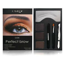 Cameo Perfect Brow Dark Eyebrow Powder Stencil Slanted Brush Tweezer Lash Wand