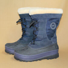 UGG AUSTRALIA Bobbey Boot 3288 Youth 4 Eu 34 Blue Canvas Winter Snow Boot