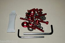RED Suzuki Bandit GSF1200 01-05 Anodised Aluminium Fairing Bodywork Bolt Kit