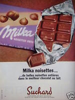 PUBLICITÉ 1968 CHOCOLAT MILKA NOISETTES DE SUCHARD - ADVERTISING
