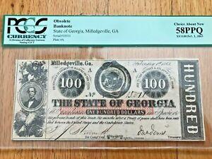 1861  $ 100.OBSOLETE BANKNOTE , PCCS 58PPQ