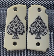 Micro 9 Scrimshawed Ace of Spades For Kimber Frames IP Grips!