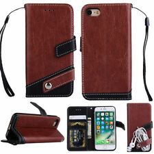 Magnetic Flip Cover Stand Wallet PU Leather Case For iPhone6 6s Brown