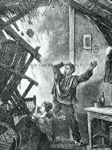 1871 Print FRANCE CIVIL WAR - A SHELL EXPLOSION AT SURESNES Franco Prussian War