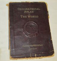 Vintage 1935 Geographical Atlas Of The World Chicago Herald & Examiner J0260