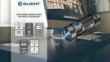 Olight S1 Baton LED Flashlight 500 Lumen Compact EDC Use 1x CR123 or RCR123, S10