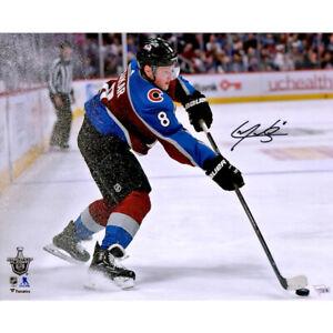"CALE MAKAR Autographed Avalanche 16"" x 20"" NHL Debut Photograph FANATICS"