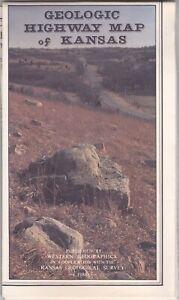 1988 Geologic Highway Map Of Kansas Brochure