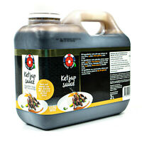 Lucky Label - Ketjap Manis Sauce 2 Liter aus Thailand - Süße Sojasauce Würzsauce