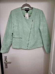 H&M Tweed-Blazer /-Jacke mit silbernen Fäden, Größe 46, mint, mit Etikett