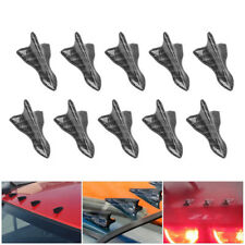 10pc Car SUV Carbon Fiber Shark Fin Diffuser Vortex Generator Spoiler Bumpers US