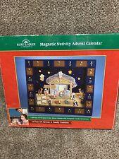 Kurt S Adler Magnetic Nativity Advent Calendar/24 Wooden Decorations COMPLETE