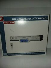 Trutech Kc308S Cd + Fm/Am Spacesaving Kitchen Clock Radio with remote