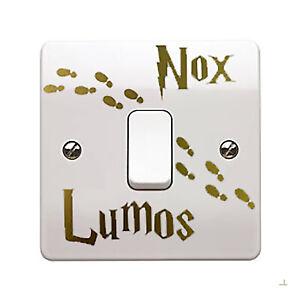 Harry Potter Lumos Nox Light Switch Decal Childs Room Wall Art Sticker