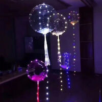 20inch Luminous Led Balloon Transparent Round Bubble Christmas Decor LED DIY/NEW