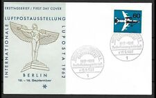 BERLIN 1962 LUFTPOSTAUSSTELLUG MINR. 230  ERSTAUSGABE GESTEMPELT