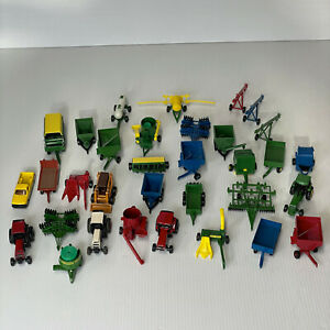 ERTL John Deere Case New Holland Lot of 30 Toys Farm Tractors Trailer Pump Baler
