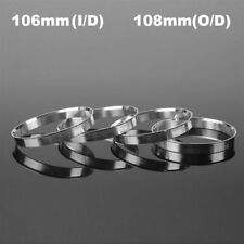 4Pcs Aluminum Centric Spigot Hub Rings Wheel Spacer Set 106mm ID to 108mm OD